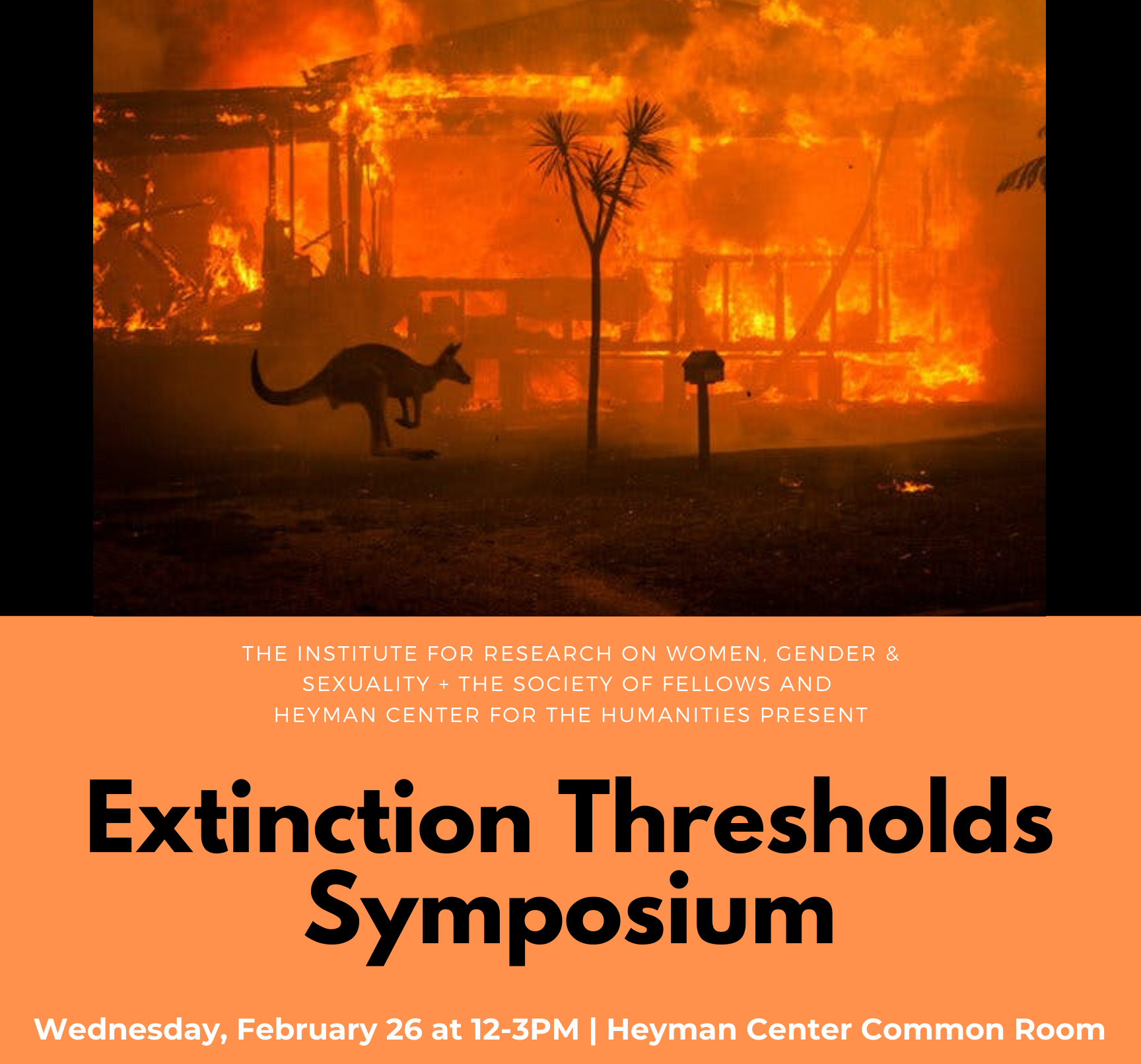 Extinction Thresholds Sympsoium